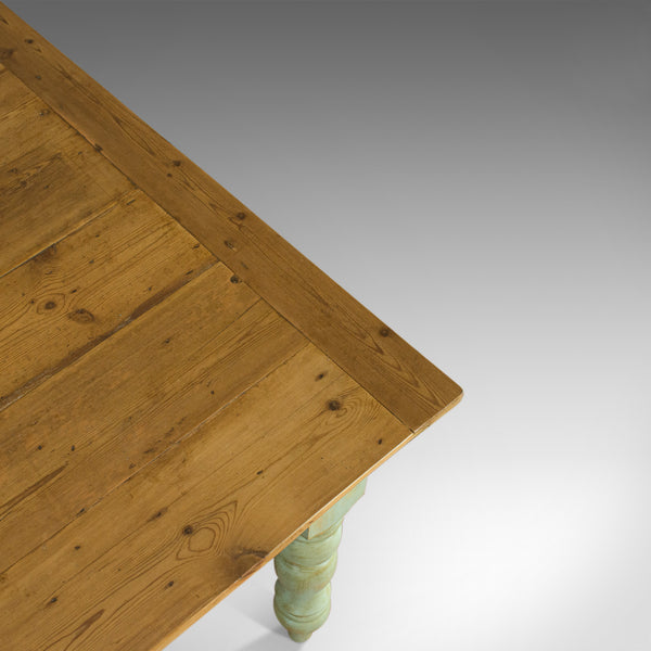 Vintage Farmhouse Dining Table, English, Pine, Rustic, Seats Six, 20th Century