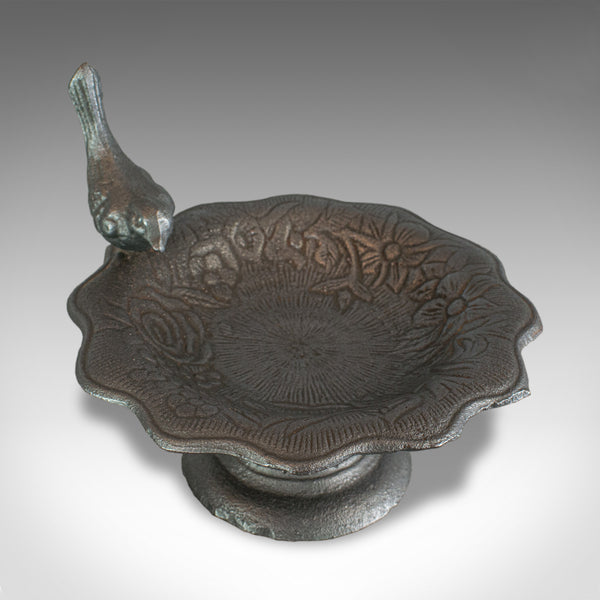 Vintage Garden Bird Bath, English, Iron, Planter or Jardiniere, 20th Century