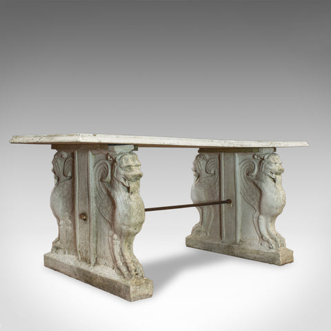Vintage Garden Table, Italian, Reconstituted Stone Bench, Circa 1960 - London Fine Antiques