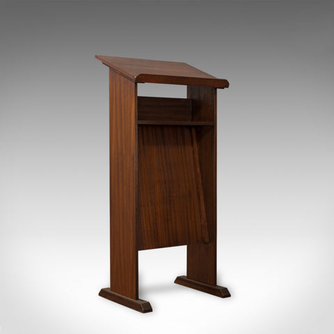 Vintage Lectern, English, Mahogany, Oratory, Music, Stand, Circa 1970 - London Fine Antiques