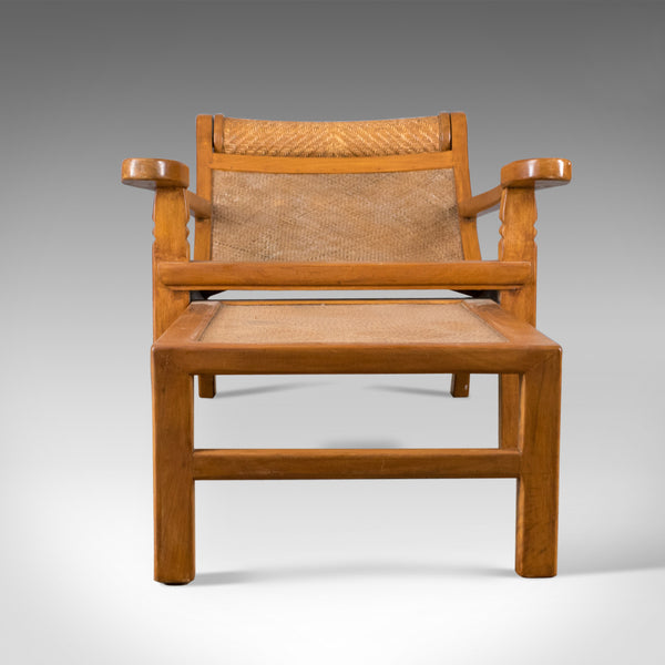 Vintage Plantation Chair, Hardwood Steamer, Recliner, Mid-Century Modern