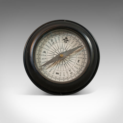 Vintage, Ships Compass, English, Steel, Maritime, Navigation, Circa 1950