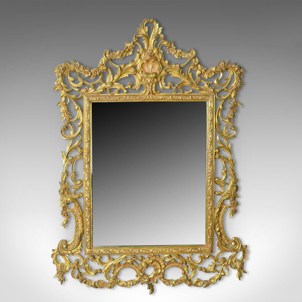 Vintage Wall Mirror, English, Rococo Revival Manner, Art Deco Period, Circa 1940 - London Fine Antiques