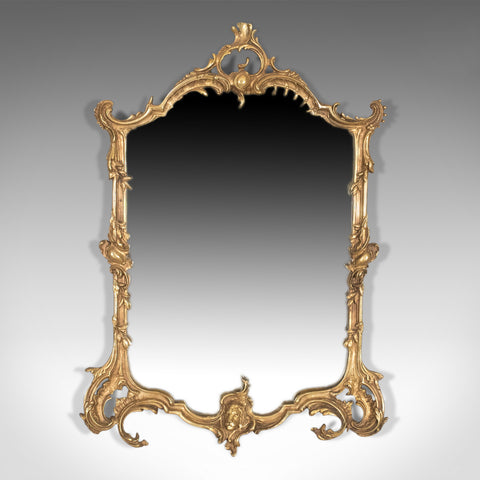 Vintage Wall Mirror in Rococo Revival Manner, English, 20th Century