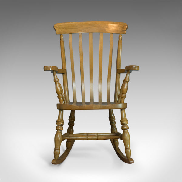 Vintage Windsor Rocking Chair, English, Beech, Armchair, Late C20th - London Fine Antiques