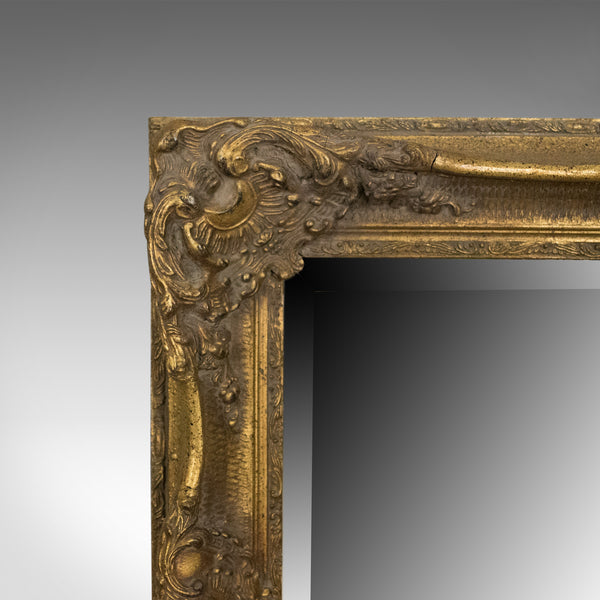 Wall Mirror in Victorian Classical Revival Taste, Giltwood, Late 20th Century