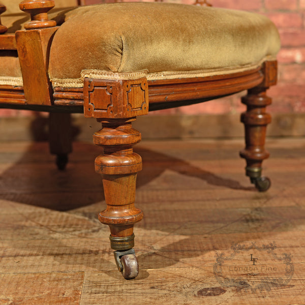 Victorian Walnut Armchair, Upholstered, c.1880 - London Fine Antiques - 5