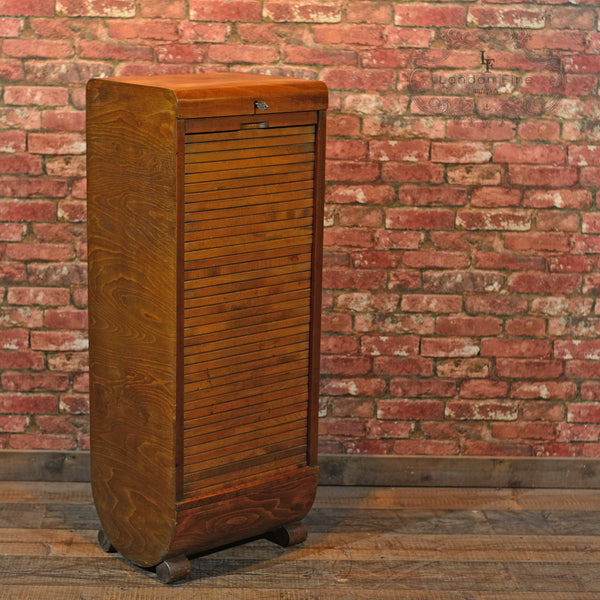 Art Deco Tambour Front Cabinet, c.1930-35 - London Fine Antiques