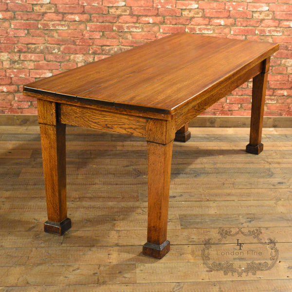 Arts & Crafts Dining Table & 6 Chairs - London Fine Antiques