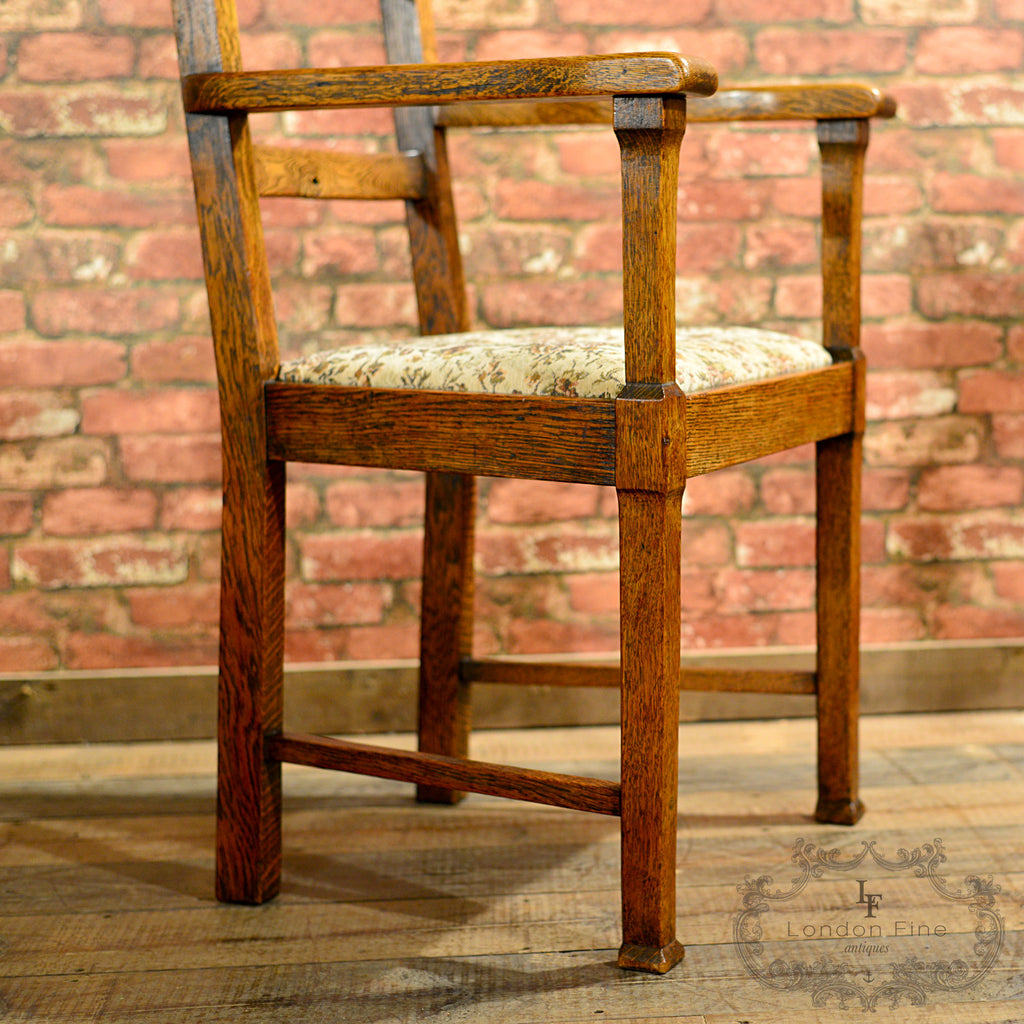 Antique arts and crafts furniture -  Arts Crafts Dining Table 6 Chairs London Fine Antiques