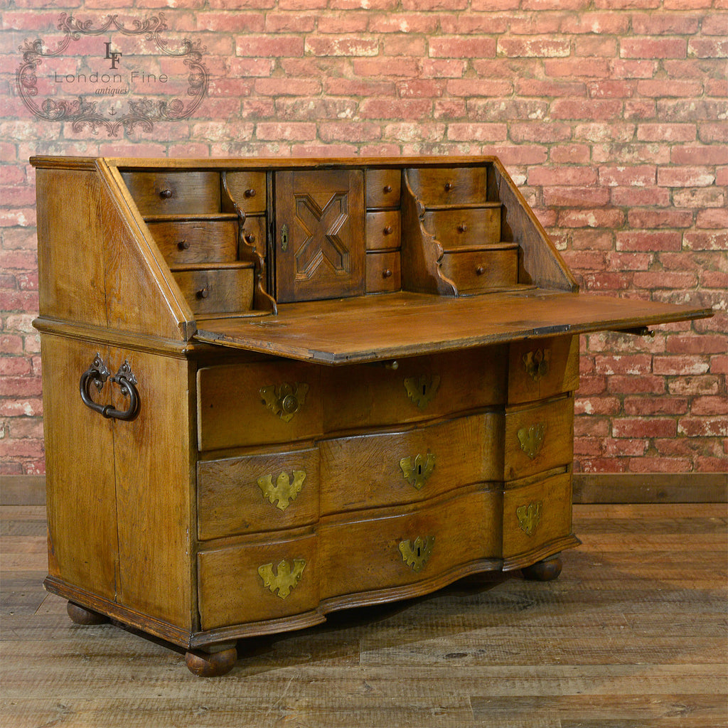 Antique Oak Bureau, c.1800 - London Fine Antiques