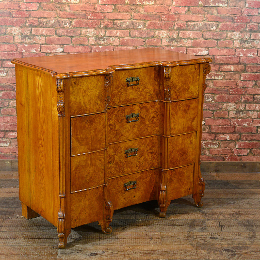 Austrian Serpentine Chest Of Drawers London Fine Antiques