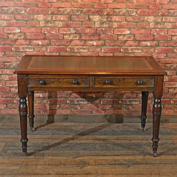 Victorian Leather Top Desk, c.1900 - London Fine Antiques - 5