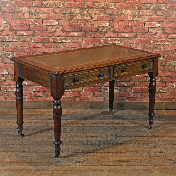 Victorian Leather Top Desk, c.1900 - London Fine Antiques - 3
