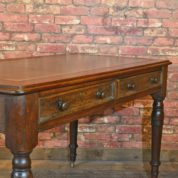 Victorian Leather Top Desk, c.1900 - London Fine Antiques - 2