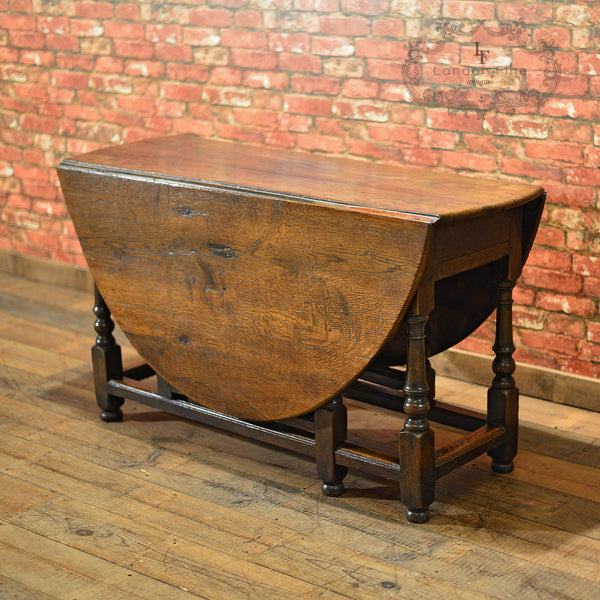 Georgian Oak Gate Leg Table, c.1800 - London Fine Antiques - 5