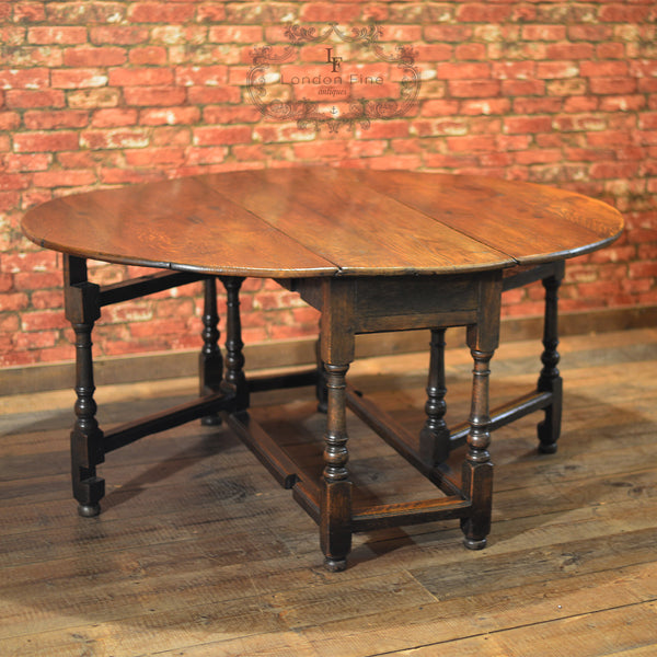 Georgian Oak Gate Leg Table, c.1800 - London Fine Antiques - 7