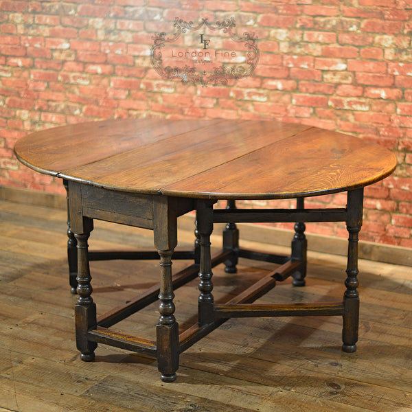 Georgian Oak Gate Leg Table, c.1800 - London Fine Antiques