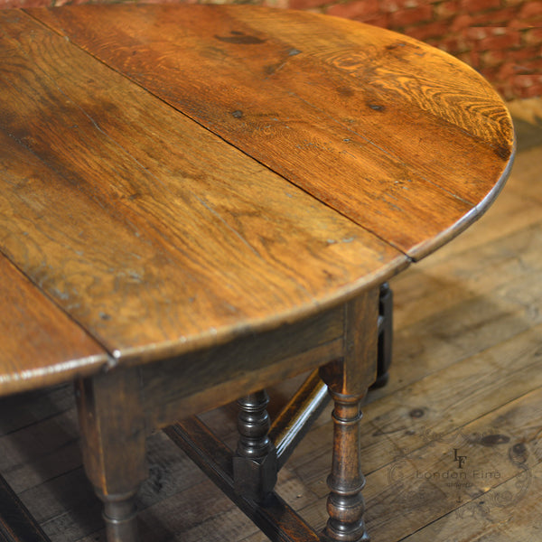 Georgian Oak Gate Leg Table, c.1800 - London Fine Antiques - 6