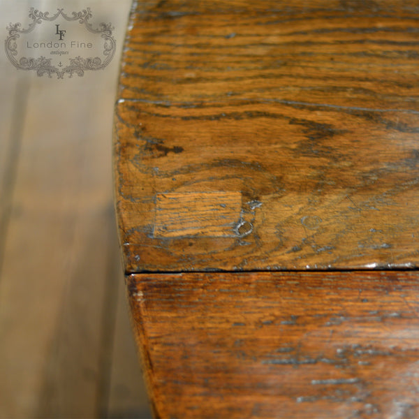 Georgian Oak Gate Leg Table, c.1800 - London Fine Antiques - 8