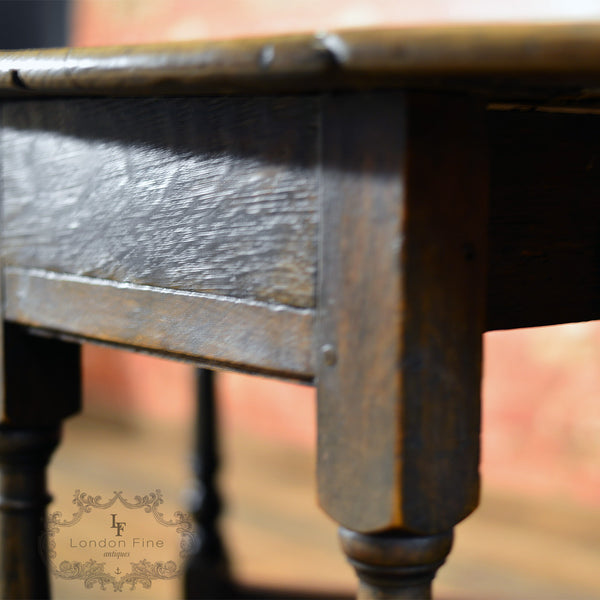 Georgian Oak Gate Leg Table, c.1800 - London Fine Antiques - 9