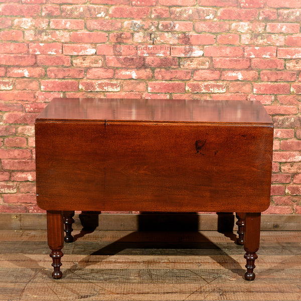 Victorian Mahogany Drop Leaf Dining Table - London Fine Antiques - 8