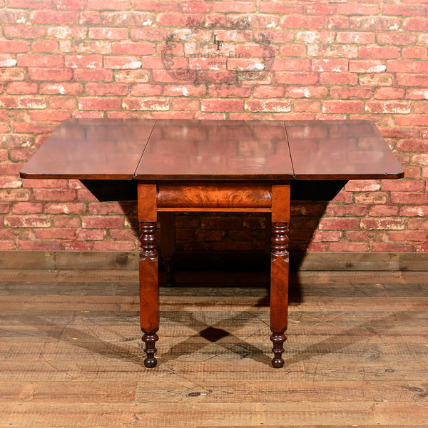 Victorian Mahogany Drop Leaf Dining Table - London Fine Antiques - 6