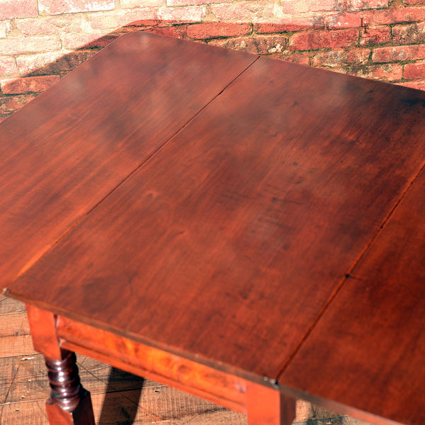 Victorian Mahogany Drop Leaf Dining Table - London Fine Antiques - 4