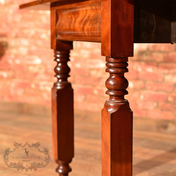 Victorian Mahogany Drop Leaf Dining Table - London Fine Antiques - 7