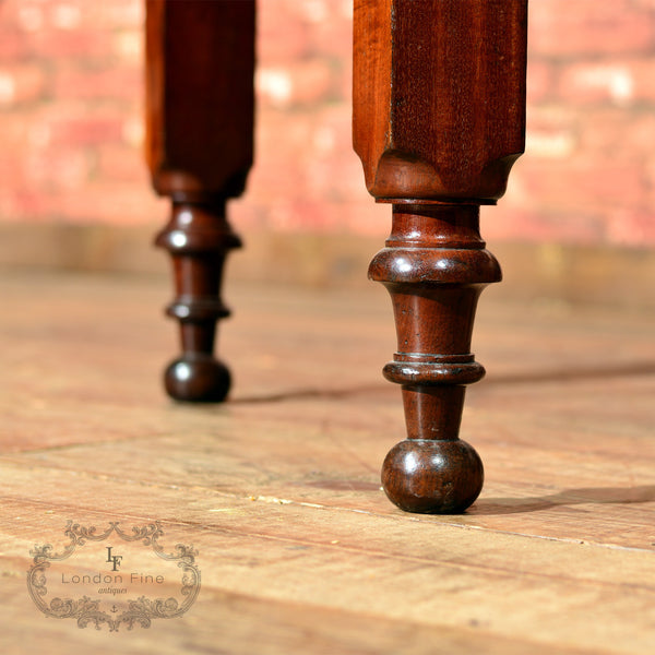 Victorian Mahogany Drop Leaf Dining Table - London Fine Antiques - 5