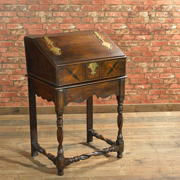 Early C18th Writing Desk on Stand - London Fine Antiques