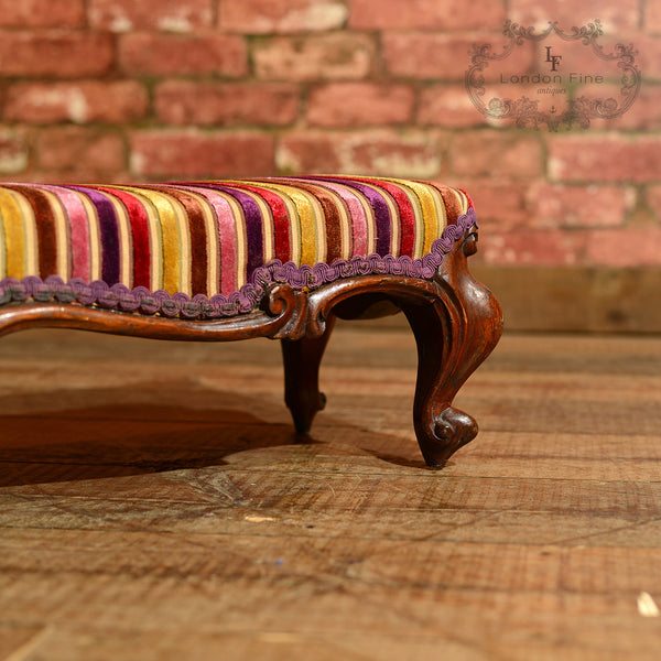Victorian Foot Stool, Carriage Stool, c.1840 - London Fine Antiques - 7