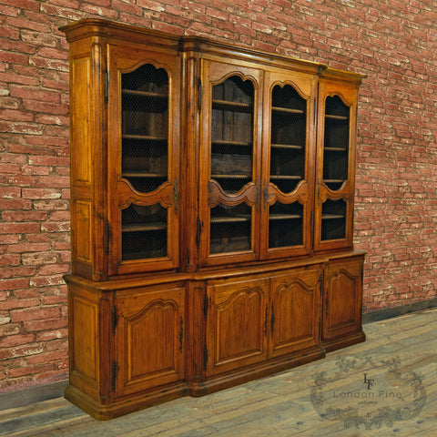 A Large Antique French Oak Bookcase, c.1880 - London Fine Antiques