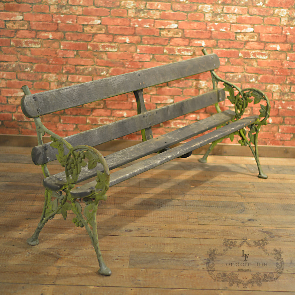 Victorian Garden Bench - London Fine Antiques - 1