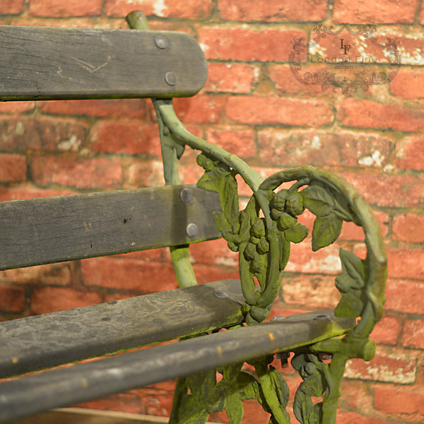 Victorian Garden Bench - London Fine Antiques - 3