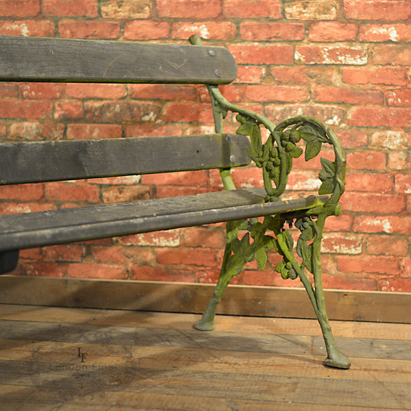 Victorian Garden Bench - London Fine Antiques - 2
