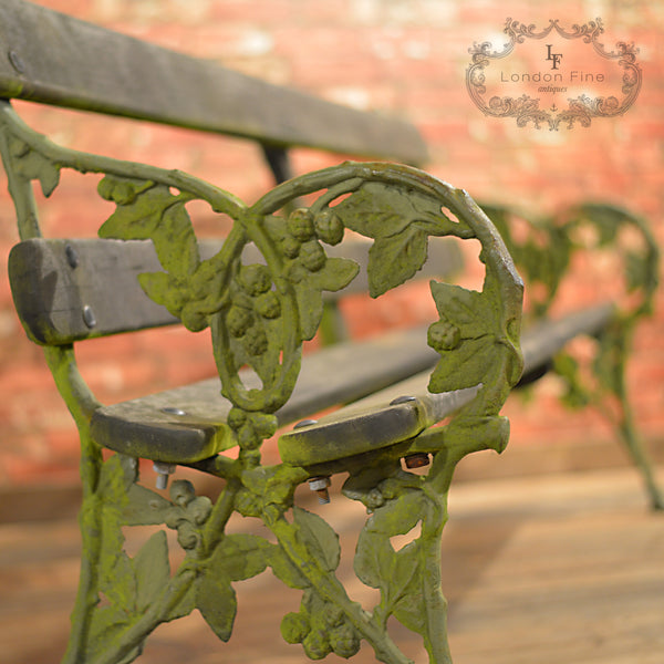 Victorian Garden Bench - London Fine Antiques - 6