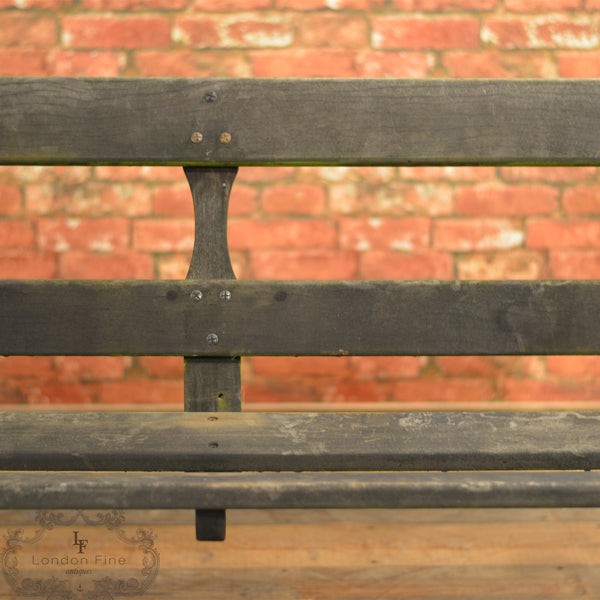 Victorian Garden Bench - London Fine Antiques - 4