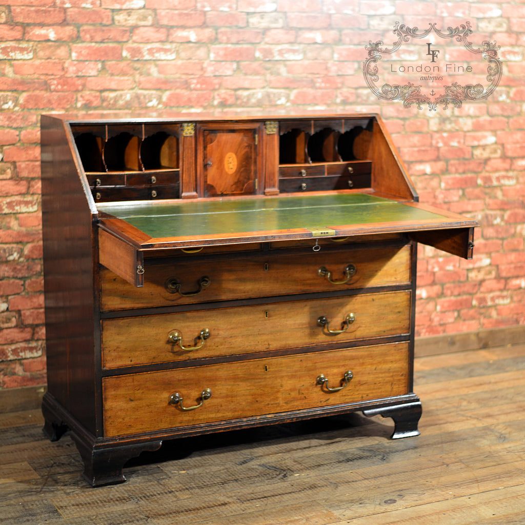 george iii mahogany bureau london fine antiques. Black Bedroom Furniture Sets. Home Design Ideas