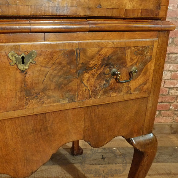 Georgian Walnut Chest on Stand - London Fine Antiques