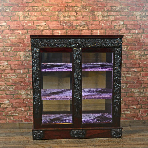 Regency Rosewood Mirror Back Cabinet - London Fine Antiques