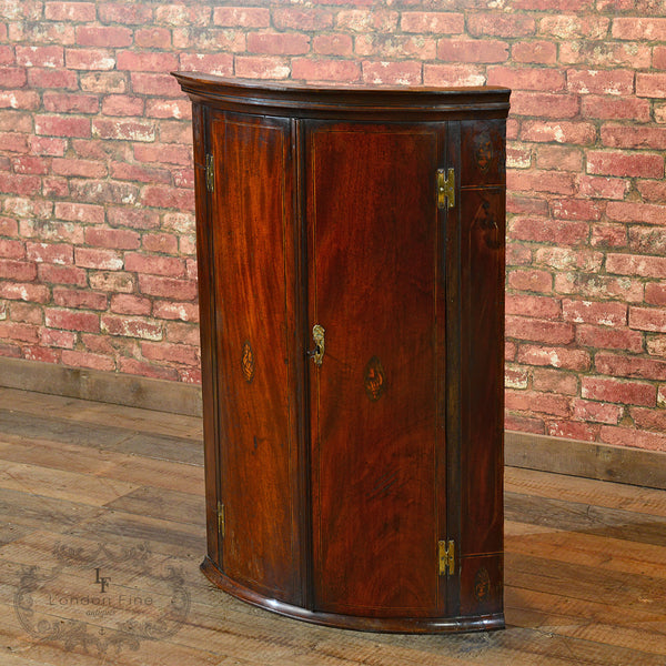 Georgian Bow Fronted Corner Cabinet, c.1780 - London Fine Antiques - 6