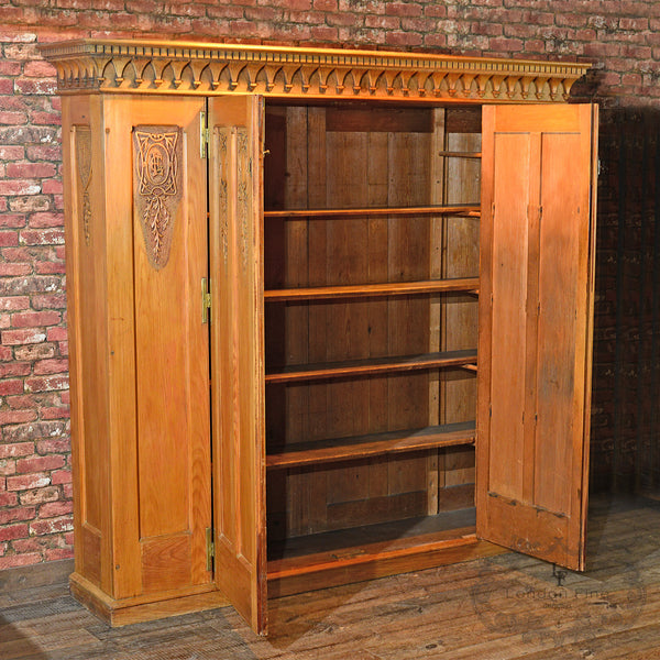Antique Beech Panelled Cupboard, c.1860 - London Fine Antiques
