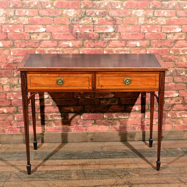 Victorian Leather Top Writing Table, c.1860 - London Fine Antiques - 10
