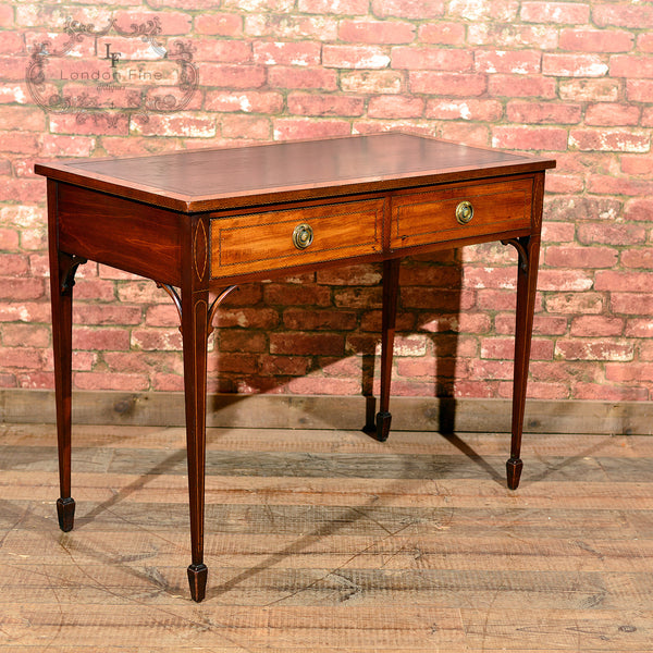 Victorian Leather Top Writing Table, c.1860 - London Fine Antiques - 1