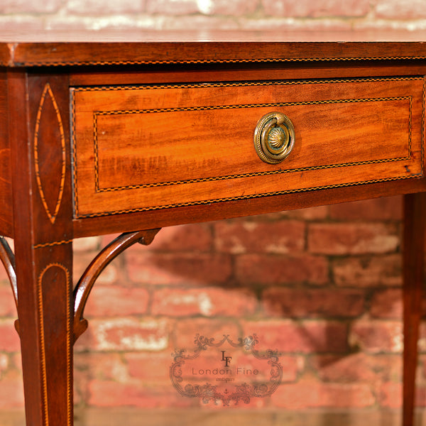 Victorian Leather Top Writing Table, c.1860 - London Fine Antiques - 3