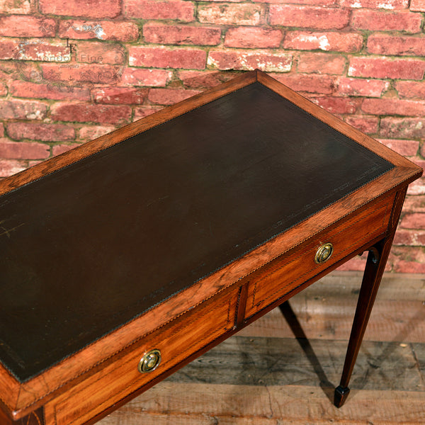 Victorian Leather Top Writing Table, c.1860 - London Fine Antiques - 4