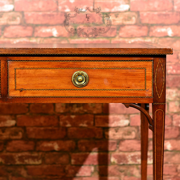 Victorian Leather Top Writing Table, c.1860 - London Fine Antiques - 9