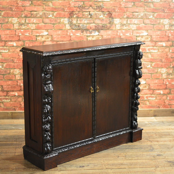 Victorian Library Bookcase - London Fine Antiques - 1