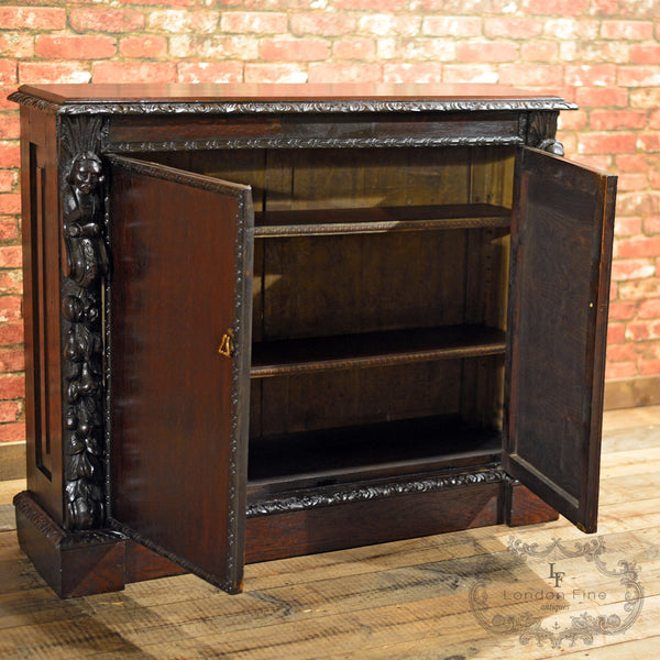 Victorian Library Bookcase - London Fine Antiques - 6